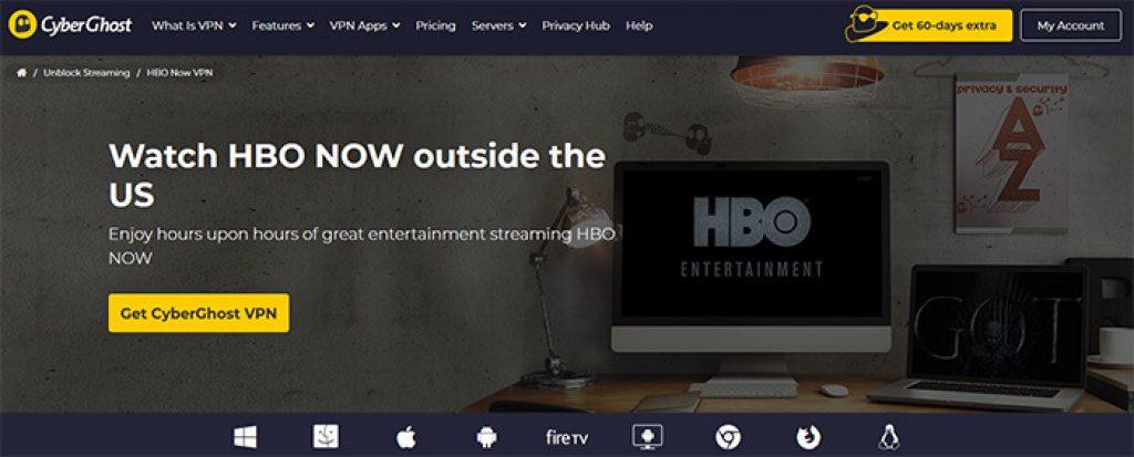 CyberGhost HBO