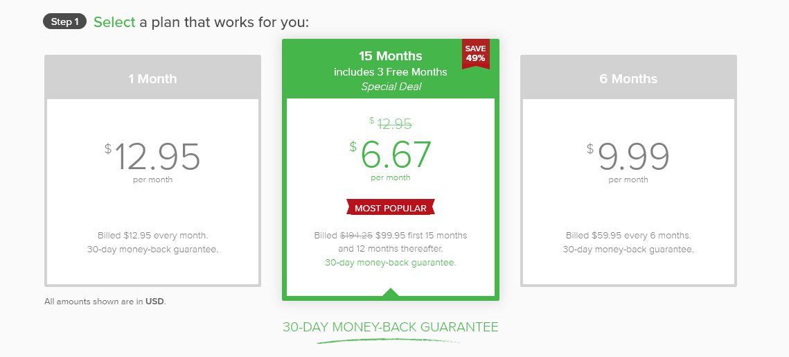 ExpressVPN price plan