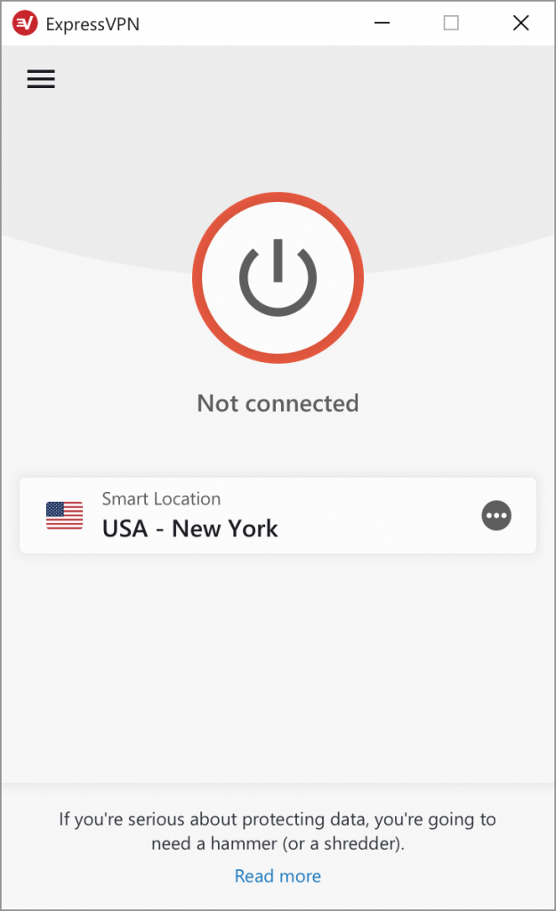 ExpressVPN application