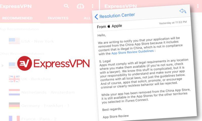 China bans VPN apps