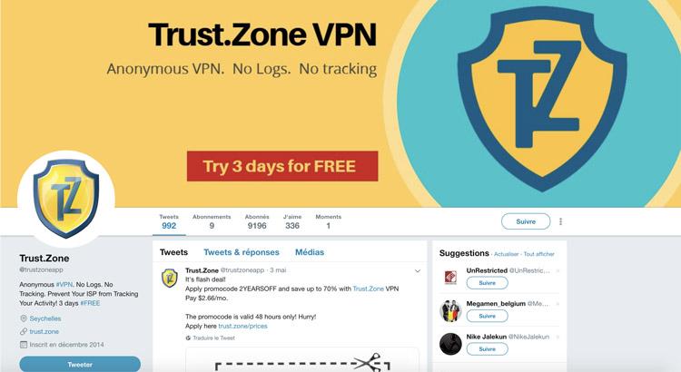Trust Zone Twitter