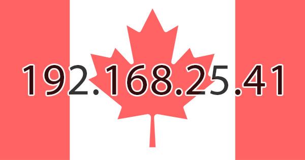 Canadian IP Address