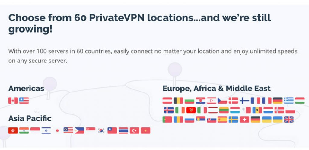 Countries-PrivateVPN