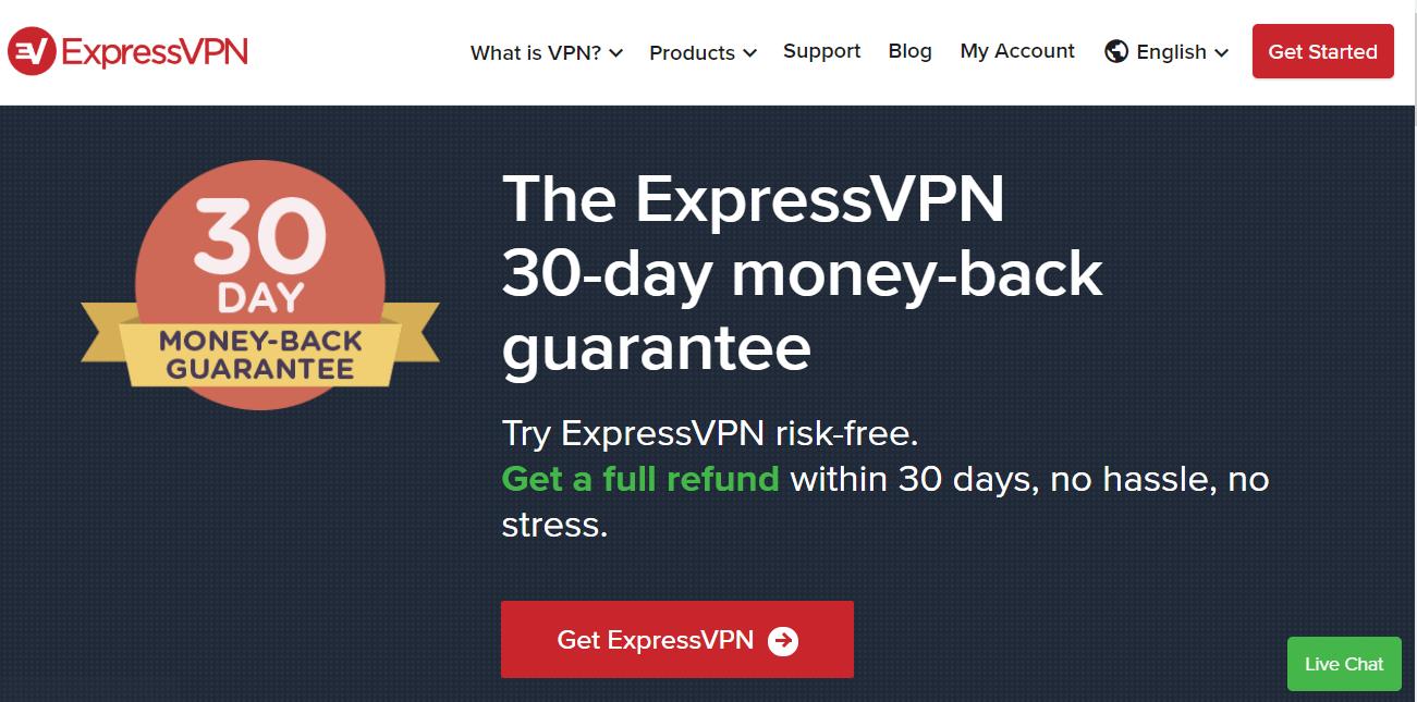 ExpressVPN-30-day-money-back-guarantee