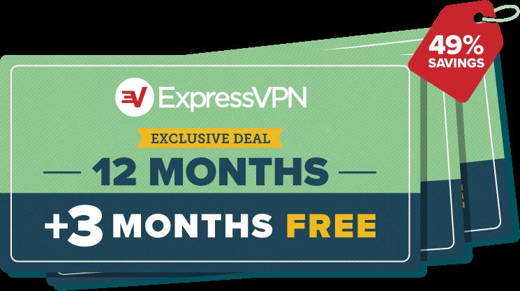 ExpressVPN three months free