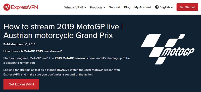 MotoGP ExpressVPN