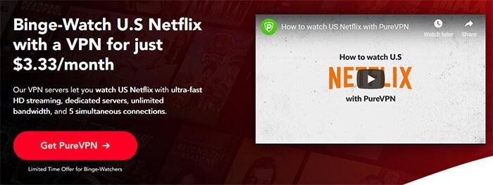 PureVPN Netflix