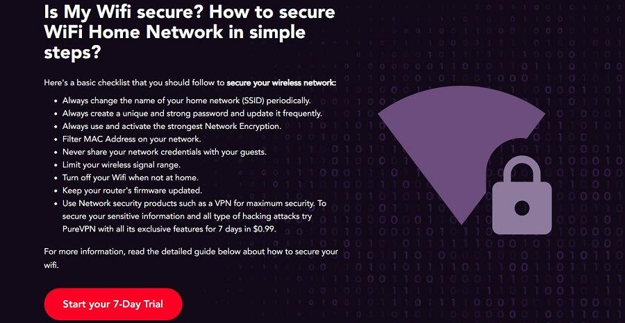 PureVPN WiFi Security