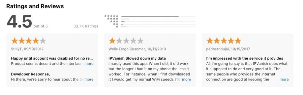 Review AppStore - IPVanish