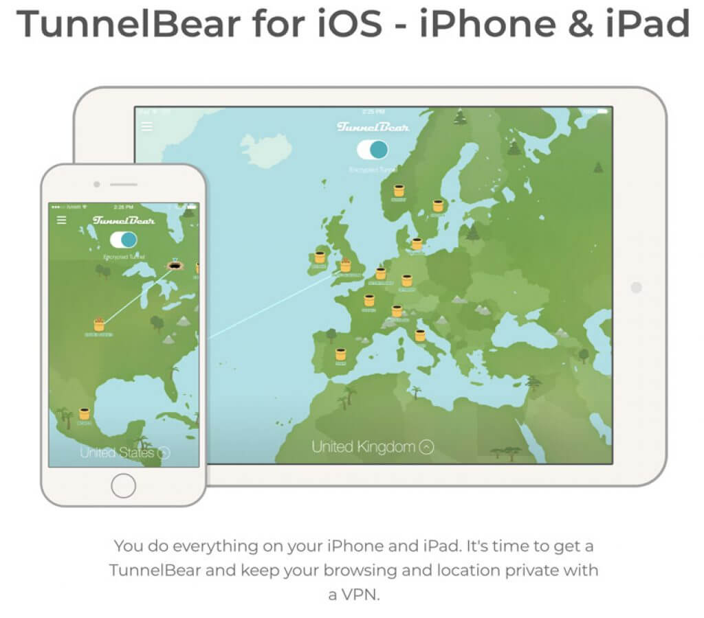 TunnelBear iPhone
