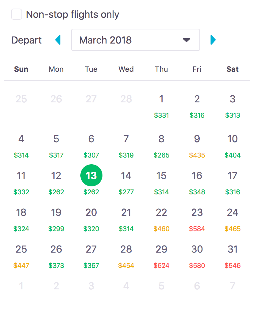 cheap flight tickets by date