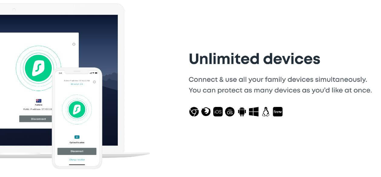 Connect unlimited devices with Surfshark
