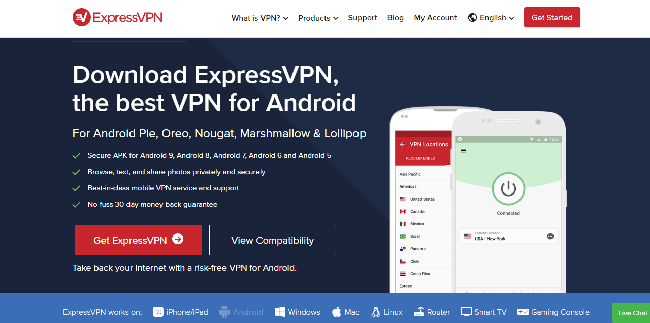 ExpressVPN for android