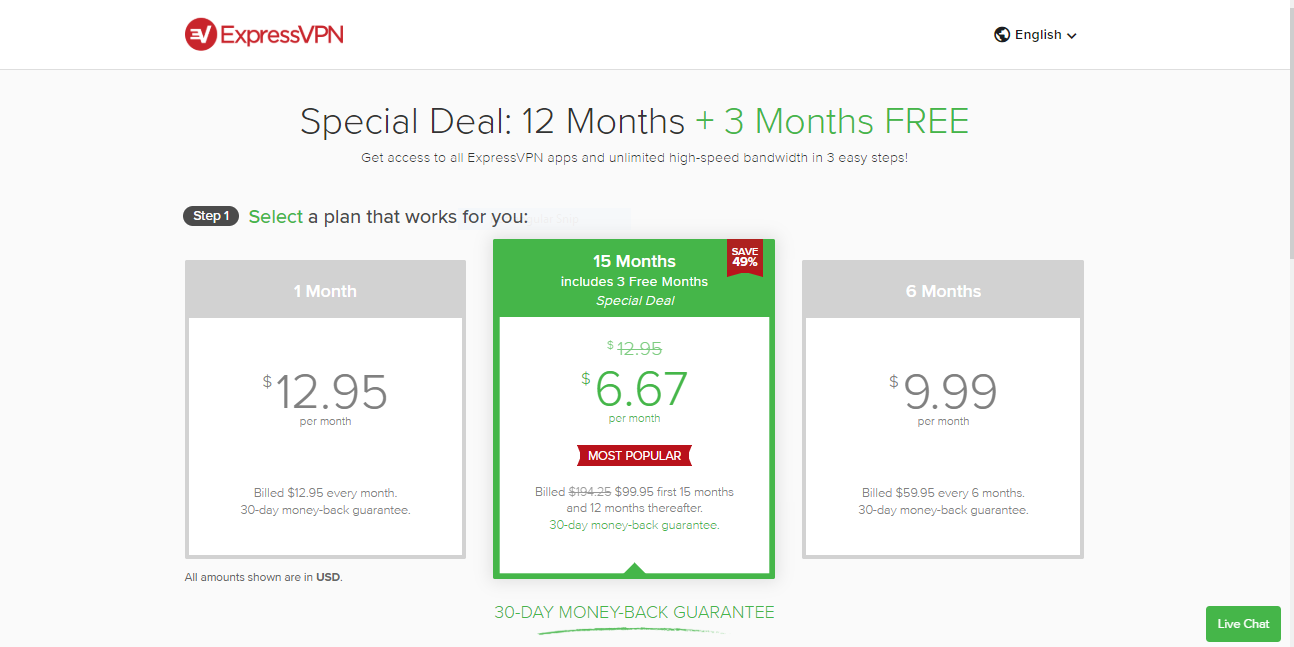 ExpressVPN price and plans