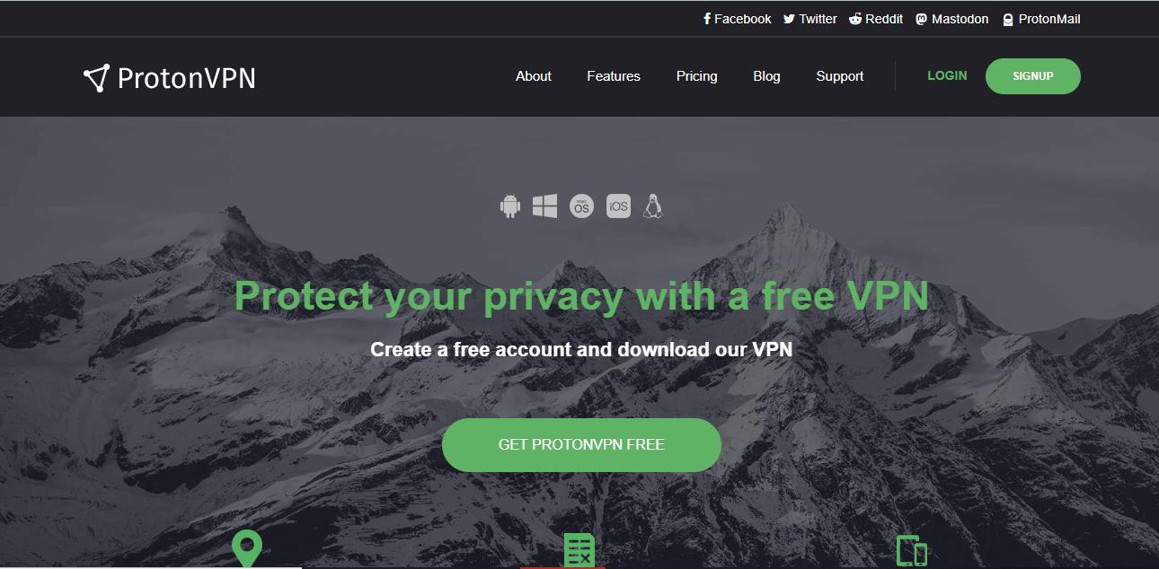 ProtonVPN free Android VPN