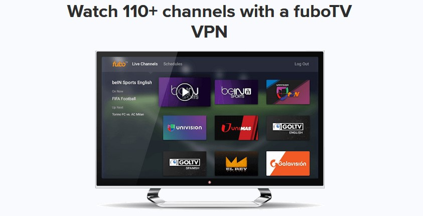 Access over 100 FuboTV channels with ExpressVPN
