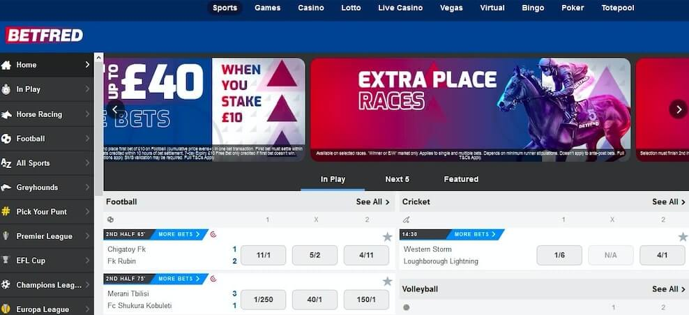 Betfred unlock