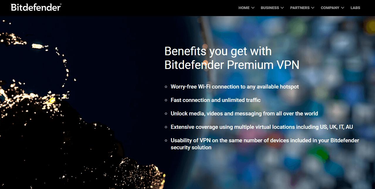 BitdefenderVPN premium features