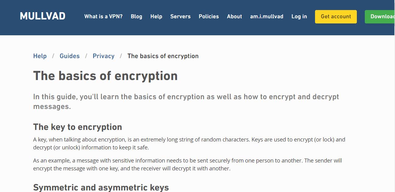 Mullvad VPN encryption