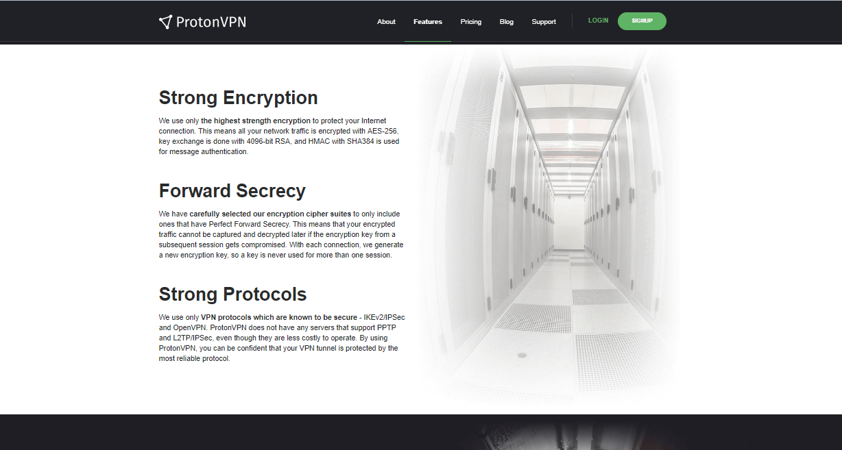 ProtonVPN encryption protocols