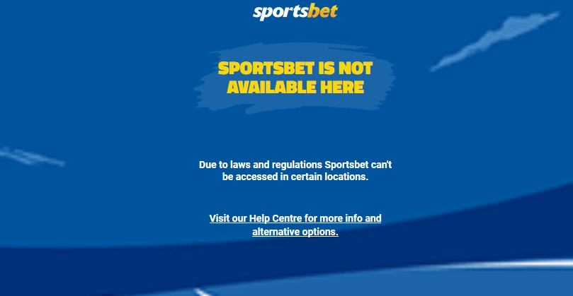 Sportsbet restricted access