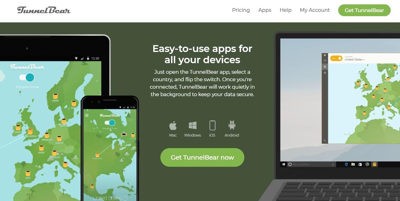 TunnelBear device compatibility