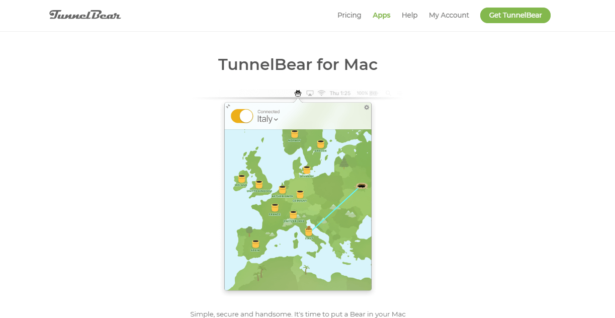 TunnelBear for macos