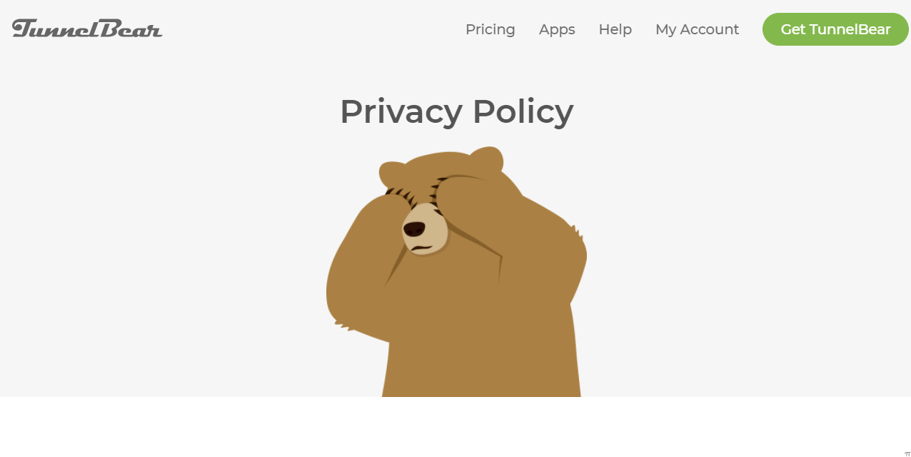TunnelBear privacy policy