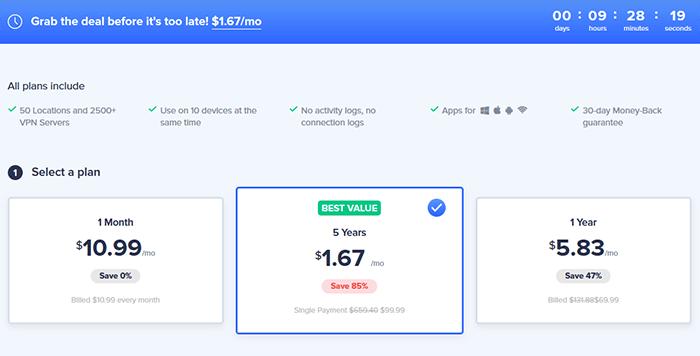 VeePN prices