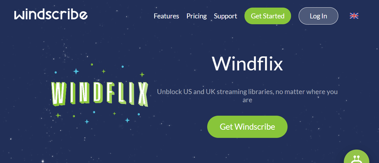 Windscribe Windflix