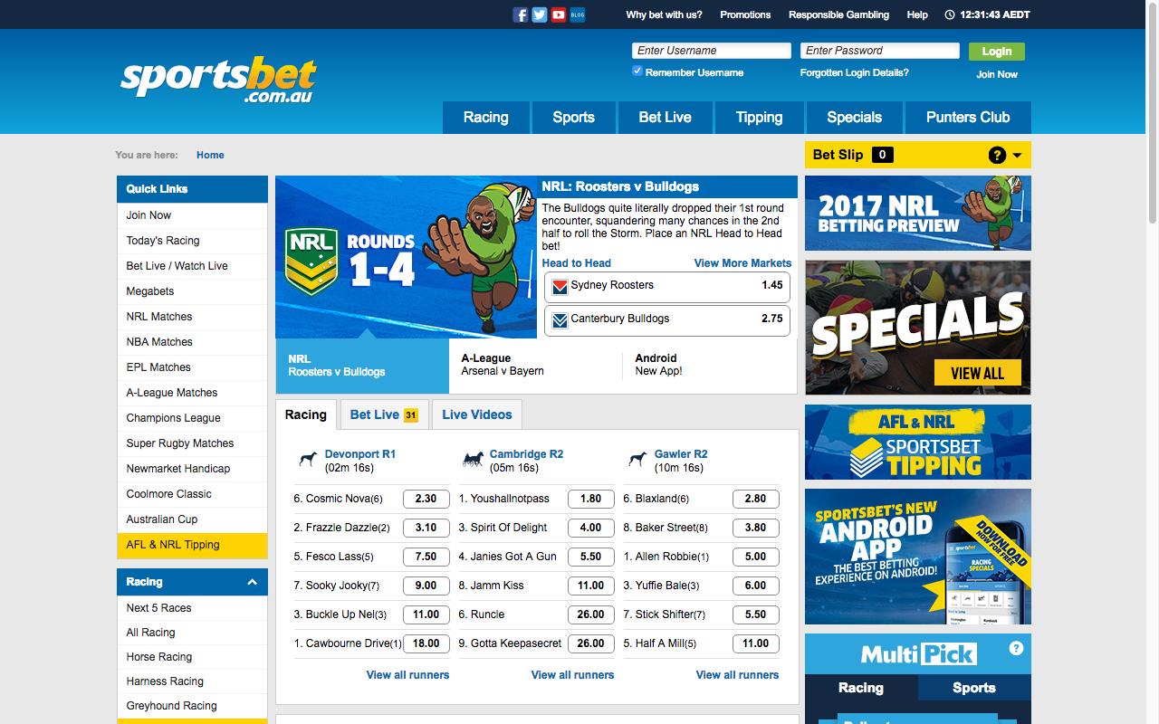 access Sportsbet online with a VPN