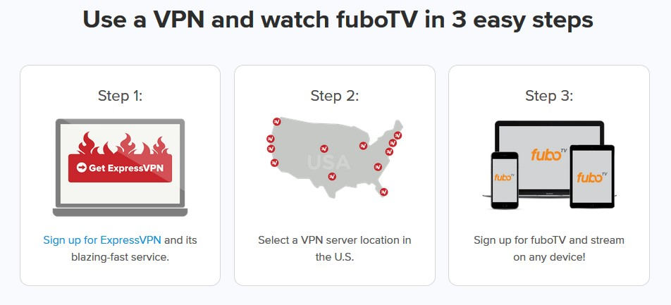 how to watch FuboTV abroad with ExpressVPN