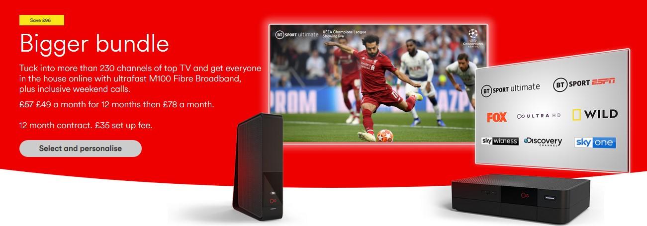 stream premier league with Virgin Media