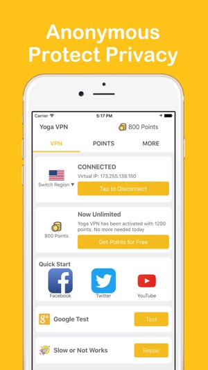 Application Yoga VPN