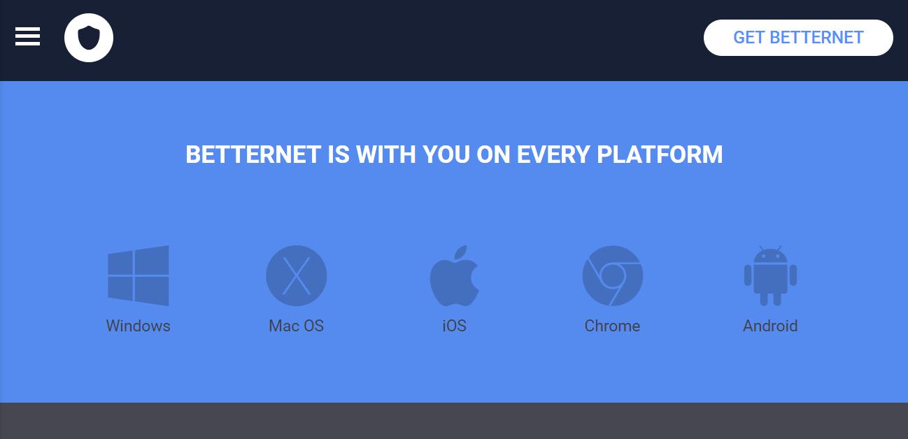 Betternet platform support