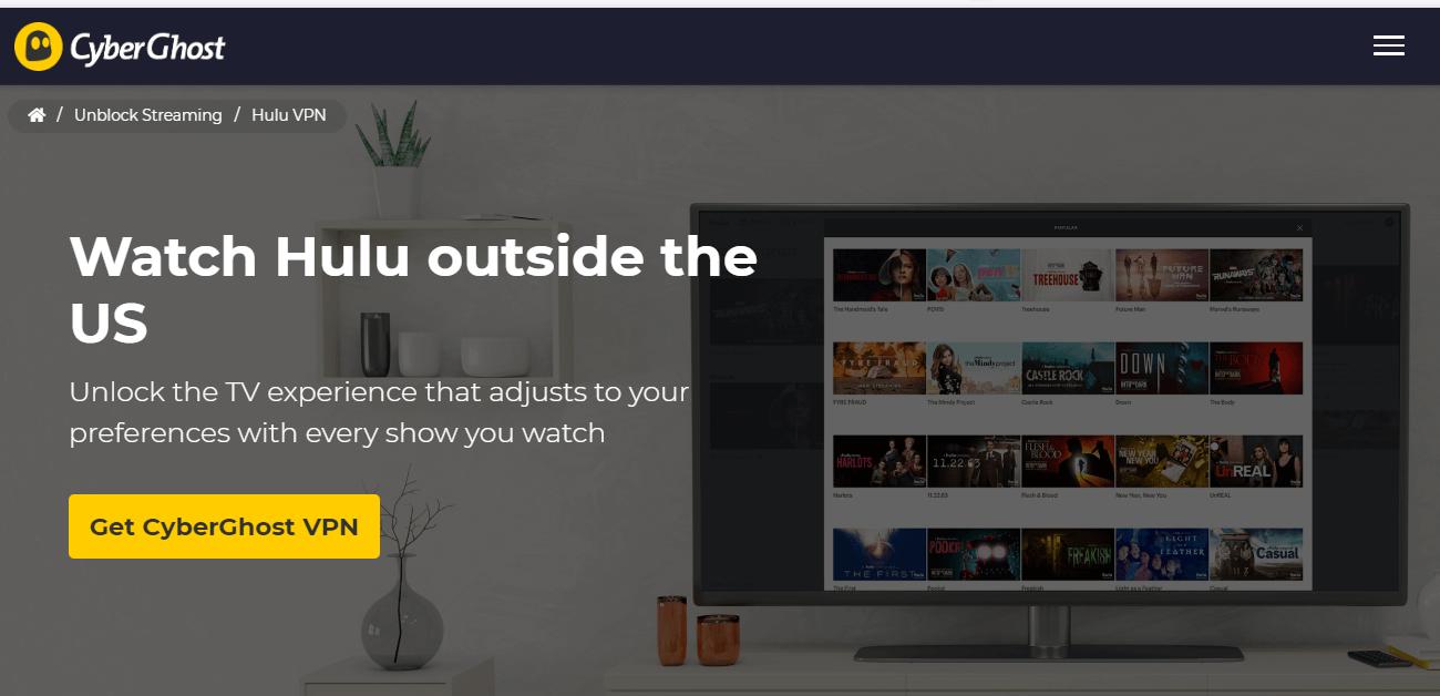 CyberGhost for Hulu