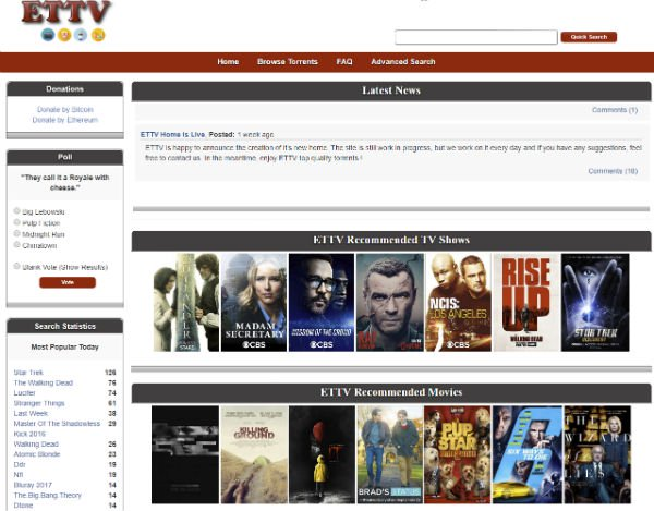 EETV Torrent list