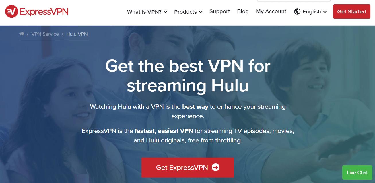 ExpressVPN for Hulu