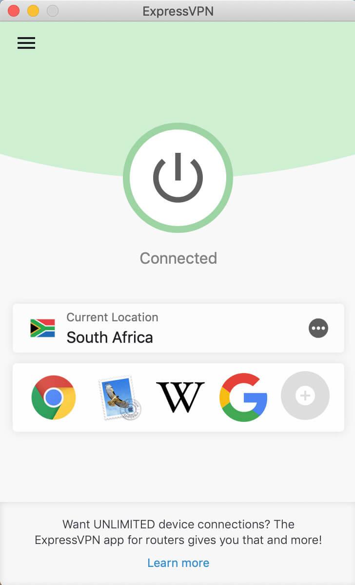 ExpressVPN in South Africa