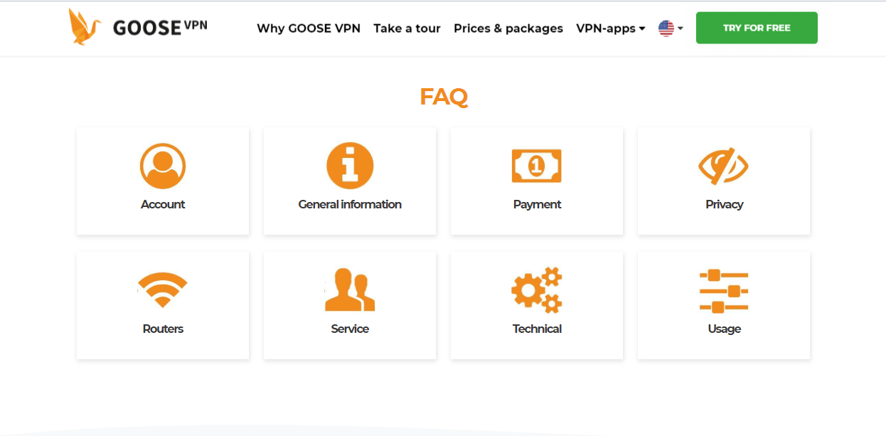 Goose VPN FAQ
