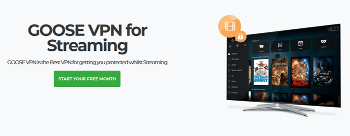 Goose VPN streaming