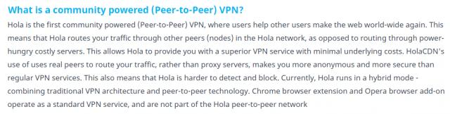 Hola VPN P2P