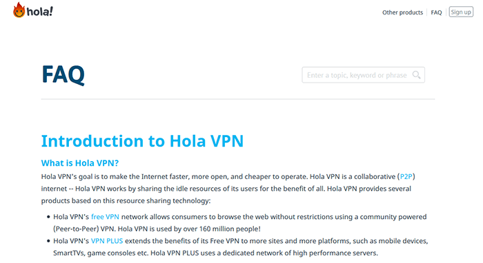 Hola VPN support