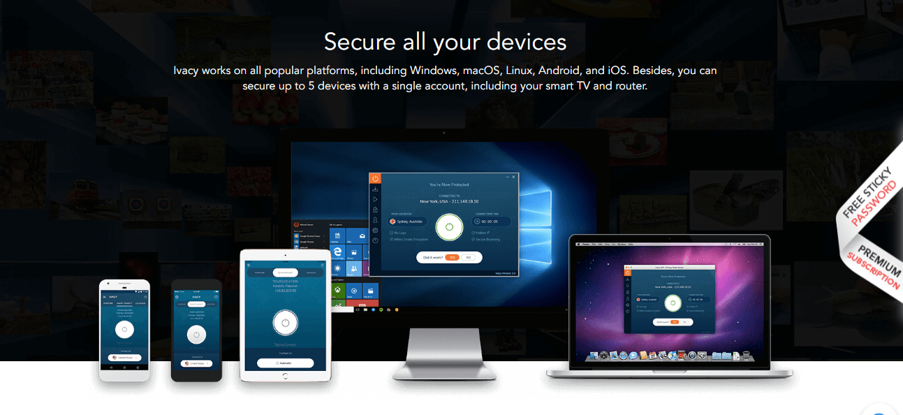 Ivacy VPN device compatibility