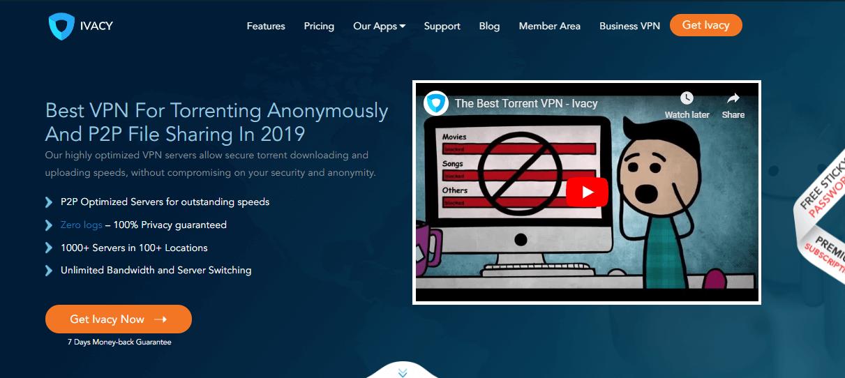 Ivacy VPN for torrenting