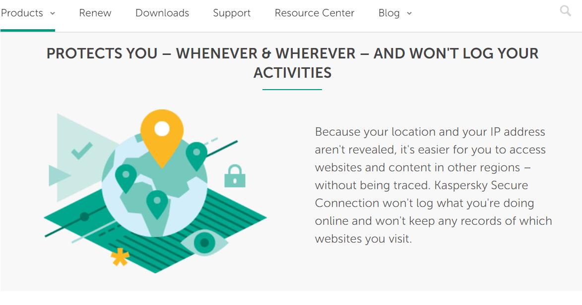 Kaspersky VPN logging policy
