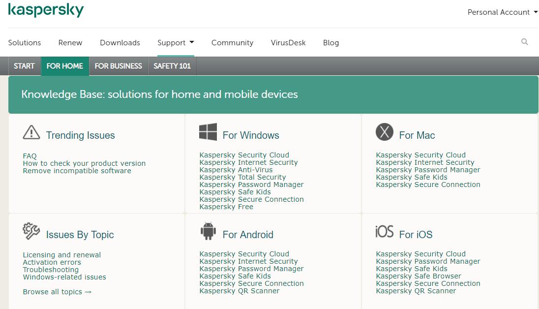 Kaspersky VPN troubleshooting guides