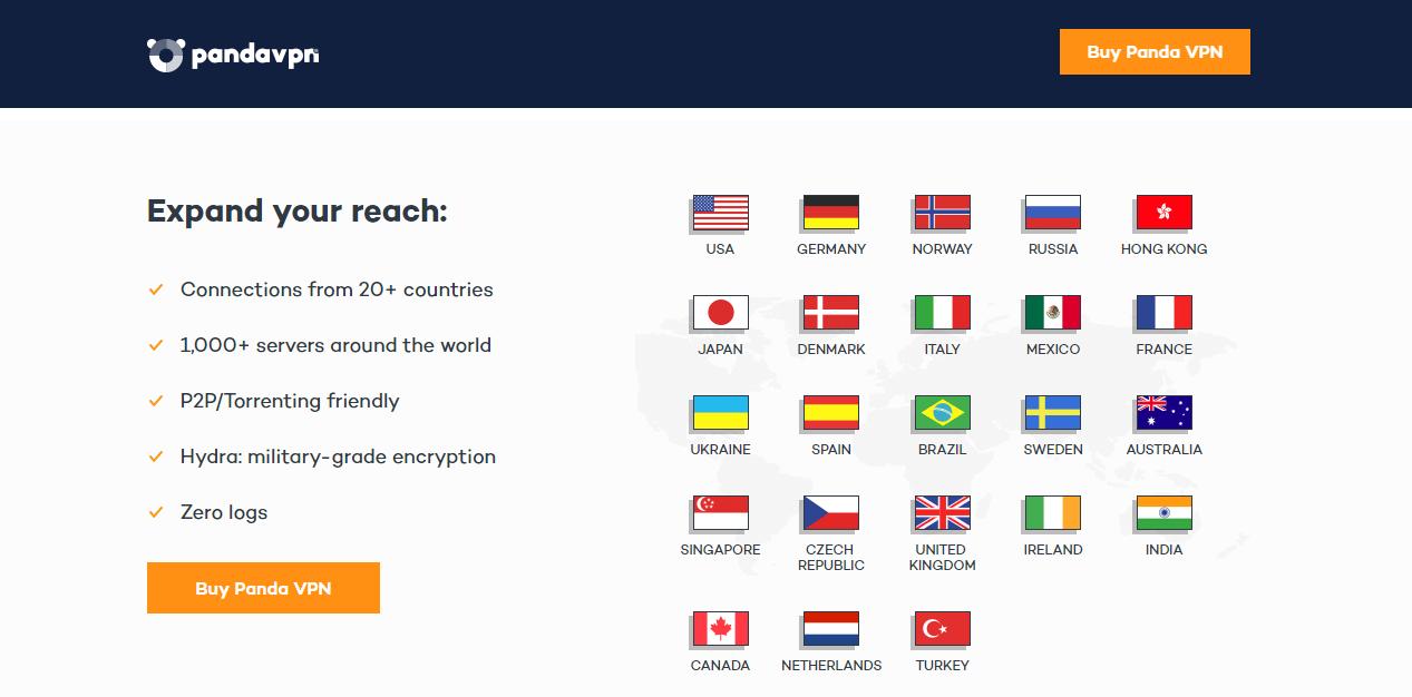 Panda VPN servers