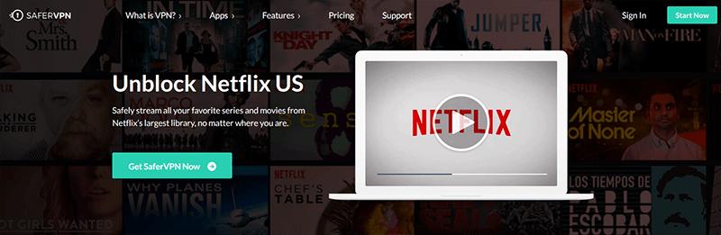 SaferVPN Netflix