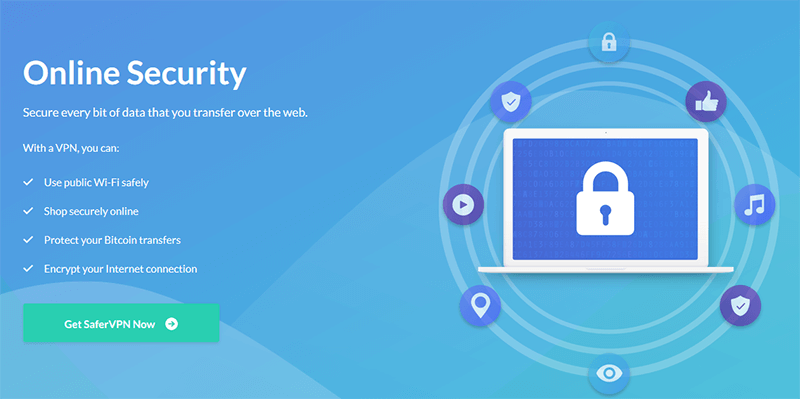 SaferVPN Online Security